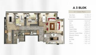 Uskudar Apartments with Bosphorus and Maiden's Tower Views, Property Plans-6