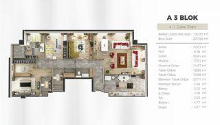 Uskudar Appartementen met Uitzicht op de Bosporus, Vloer Plannen-7