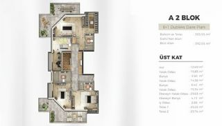 Uskudar Appartementen met Uitzicht op de Bosporus, Vloer Plannen-8