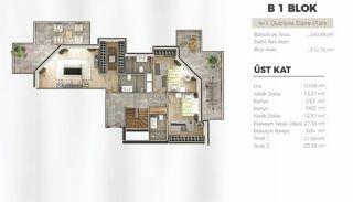 Uskudar Appartementen met Uitzicht op de Bosporus, Vloer Plannen-9