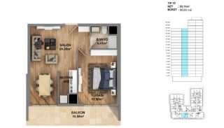 Investment Opportunity Flats in Crown of Istanbul Avcılar, Property Plans-12
