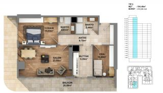Investment Opportunity Flats in Crown of Istanbul Avcılar, Property Plans-3