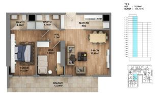 Investment Opportunity Flats in Crown of Istanbul Avcılar, Property Plans-8
