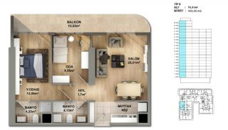 Investment Opportunity Flats in Crown of Istanbul Avcılar, Property Plans-9