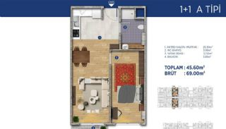 Investment Flats Close to the Seashore in İstanbul, Property Plans-1
