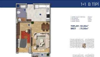Investment Flats Close to the Seashore in İstanbul, Property Plans-11