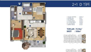 Investment Flats Close to the Seashore in İstanbul, Property Plans-12