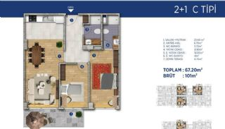 Investment Flats Close to the Seashore in İstanbul, Property Plans-15
