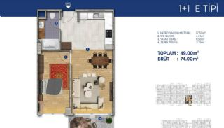 Investment Flats Close to the Seashore in İstanbul, Property Plans-4