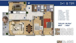 Investment Flats Close to the Seashore in İstanbul, Property Plans-5