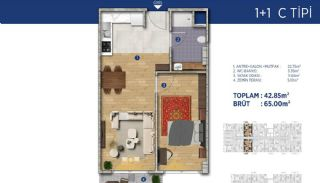 Investment Flats Close to the Seashore in İstanbul, Property Plans-9