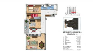 Investment Property with Rich Complex Features in Istanbul, Property Plans-9