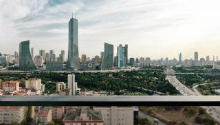 Ümraniye'de Yüksek Tavanlı ve Modern Mimarili Daireler, İç Fotoğraflar-17