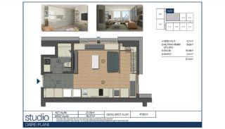 Ümraniye'de Yüksek Tavanlı ve Modern Mimarili Daireler, Kat Planları-1