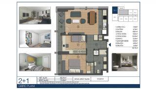 Большие Квартиры Рядом с Финансовым Центром в Стамбуле, Планировка -3