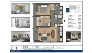 Ümraniye'de Yüksek Tavanlı ve Modern Mimarili Daireler, Kat Planları-5