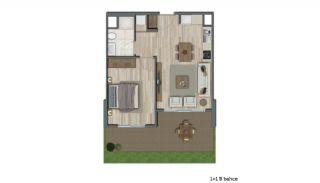 Квартиры в Стамбуле в Малоэтажном Благоустроенном Комплексе, Планировка -1