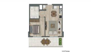 Квартиры в Стамбуле в Малоэтажном Благоустроенном Комплексе, Планировка -4
