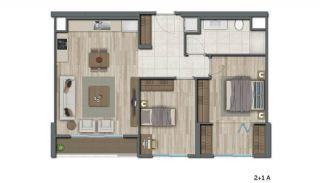 Квартиры в Стамбуле в Малоэтажном Благоустроенном Комплексе, Планировка -7