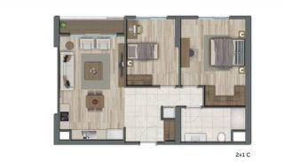Квартиры в Стамбуле в Малоэтажном Благоустроенном Комплексе, Планировка -8