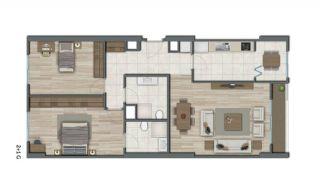 Квартиры в Стамбуле в Малоэтажном Благоустроенном Комплексе, Планировка -9