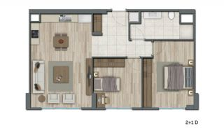 Low-Rise Apartments with Rich Complex Features in İstanbul, Property Plans-10