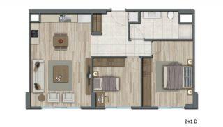 Квартиры в Стамбуле в Малоэтажном Благоустроенном Комплексе, Планировка -10