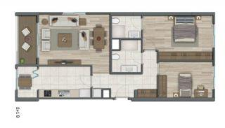 Квартиры в Стамбуле в Малоэтажном Благоустроенном Комплексе, Планировка -12