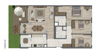 Квартиры в Стамбуле в Малоэтажном Благоустроенном Комплексе, Планировка -14