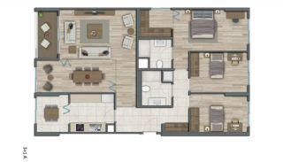 Квартиры в Стамбуле в Малоэтажном Благоустроенном Комплексе, Планировка -15