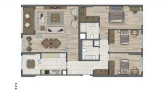 Квартиры в Стамбуле в Малоэтажном Благоустроенном Комплексе, Планировка -16