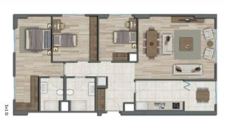 Квартиры в Стамбуле в Малоэтажном Благоустроенном Комплексе, Планировка -17