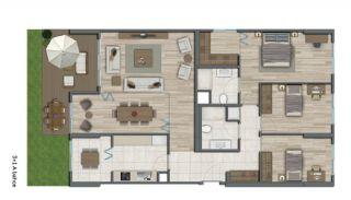 Квартиры в Стамбуле в Малоэтажном Благоустроенном Комплексе, Планировка -18