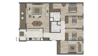 Квартиры в Стамбуле в Малоэтажном Благоустроенном Комплексе, Планировка -20