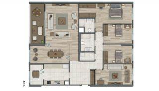 Квартиры в Стамбуле в Малоэтажном Благоустроенном Комплексе, Планировка -21
