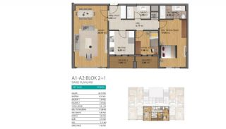 Modern Flats with Rich Complex Features in Beylikduzu Istanbul, Property Plans-2