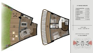 Sea and City View Flats in a Luxurious Complex in Kocaeli, Property Plans-13