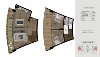 Sea and City View Flats in a Luxurious Complex in Kocaeli, Property Plans-15