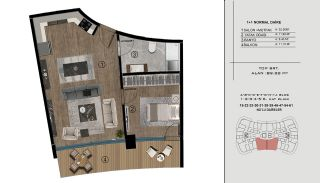 Sea and City View Flats in a Luxurious Complex in Kocaeli, Property Plans-17