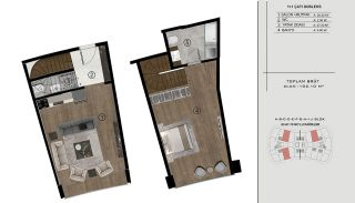 Sea and City View Flats in a Luxurious Complex in Kocaeli, Property Plans-18