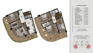 Sea and City View Flats in a Luxurious Complex in Kocaeli, Property Plans-2