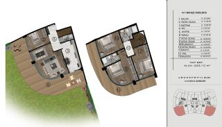 Sea and City View Flats in a Luxurious Complex in Kocaeli, Property Plans-3