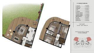 Sea and City View Flats in a Luxurious Complex in Kocaeli, Property Plans-4