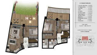 Sea and City View Flats in a Luxurious Complex in Kocaeli, Property Plans-5