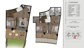 Sea and City View Flats in a Luxurious Complex in Kocaeli, Property Plans-6