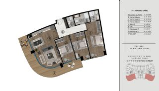Sea and City View Flats in a Luxurious Complex in Kocaeli, Property Plans-9