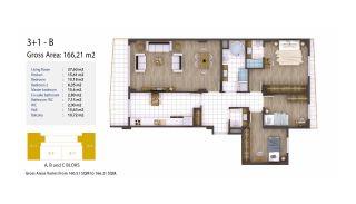 Kocaeli Wohnungen mit Meerblick in einem Komplex mit Pools, Immobilienplaene-3