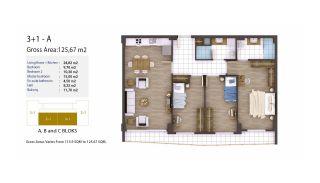 Kocaeli Wohnungen mit Meerblick in einem Komplex mit Pools, Immobilienplaene-4