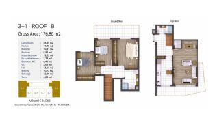 Kocaeli Wohnungen mit Meerblick in einem Komplex mit Pools, Immobilienplaene-5