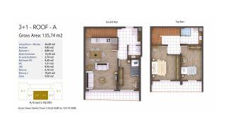Kocaeli Wohnungen mit Meerblick in einem Komplex mit Pools, Immobilienplaene-8